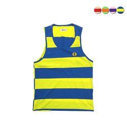 G Border Stripe Sleeveless Shirt(4color)