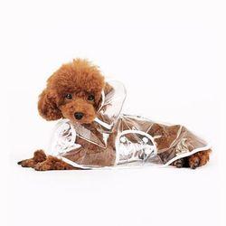 애견 강아지 투명 레인코트 비옷 우비 S