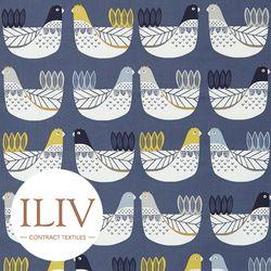 ILIV Cluck Cluck Fabric Ochre 영국수입원단