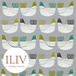 ILIV Cluck Cluck Fabric Kiwi 영국수입원단