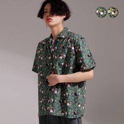 Flamingo Overfit Aloha shirt(2color)(unisex)