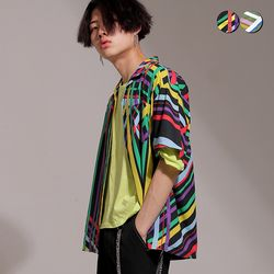 Retro Graphic Open Shirt(2color)(unisex)