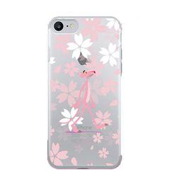 핑크팬더 플라워 젤리케이스.아이폰5S(SE)