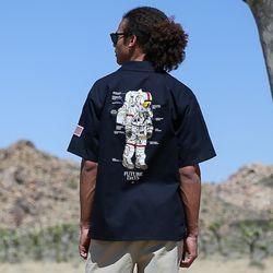 18ss 플루크 우주인 work 셔츠 FLS018C003 bk
