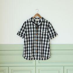 더시원한 여름잠옷-멍뭉이에디션 [셔츠][블랙체크]