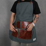 Leather Apron Khaki (가죽 앞치마)
