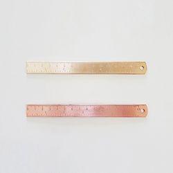 15cm 메탈 자 - 골드 로즈골드