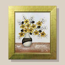 풍수지리그림 화가그림 유화그림 부귀영화황금꽃병1