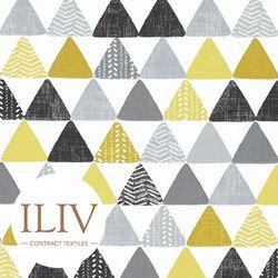 ILIV PYRAMIDS Fabric Noir 영국수입원단