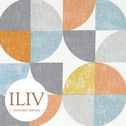 ILIV Spiral Fabric Tangerine 영국수입원단