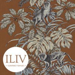 ILIV Monkeying Around Fabric Henna 영국수입원단