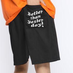 [WHITE.WATER] BTSD SHORT PANTS BLACK