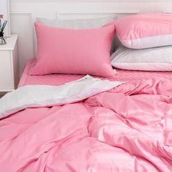 프렌치 60수사틴 핑크 이불커버 - 퀸