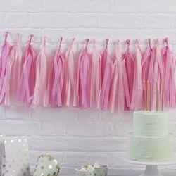 [파티용품] 핑크 테슬 가랜드