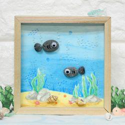 에코스톤나무액자만들기-여름바닷속상상(물고기)