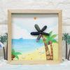 에코스톤나무액자만들기-여름바닷가상상(야자수)