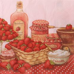 DIY용냅킨 딸기파티(1816)