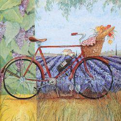 DIY용냅킨 자전거풍경(531)