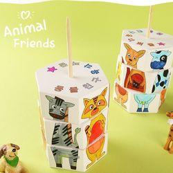 동물친구육각퍼즐만들기(1개)동물모양조각맞추기
