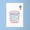 일본 인테리어 디자인 포스터 M 얼음물 A3(중형)