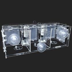 다용도 멀티격리형 부화통 3칸(미세망5개)30x10x10cm