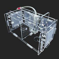 다용도 멀티격리형 부화통 2칸(미세망4개)20x10x10cm