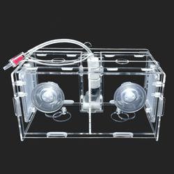 다용도 멀티격리형 부화통 2칸(미세망2개)20x10x10cm