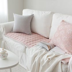 시원한 잔꽃인견쇼파패드-핑크-160cmx65cm