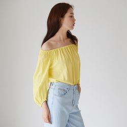 OFFSHOULDER TWO-WAY BLOUSE YE