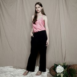 LINEN STRING STRAIGHT PANTS NY