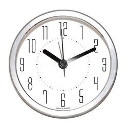 심플 알루미늄 알람탁상시계