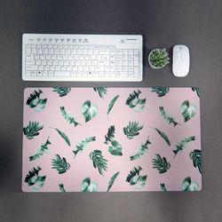 보타니컬 데스크 매트 핑크 책상매트 사무실 꾸미기