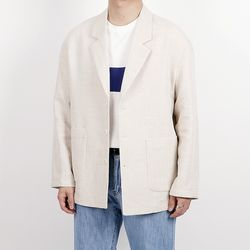 Belted linen double jacket