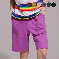 CUT-OFF SWEAT SHORTS(6color)(unisex)