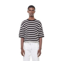 Sping stripe knit (Black)