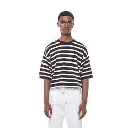 Sping stripe knit (Black)