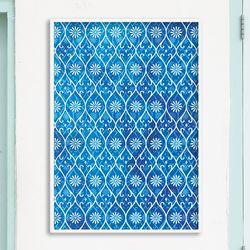 blue pattern - A4 인테리어 메탈액자