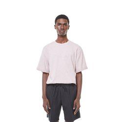 Uta rollover half T-shirt (Pink)