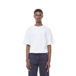 Uta rollover half T-shirt (White)