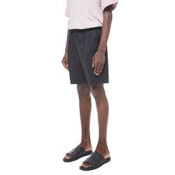 Mona st mtr banding half slacks (Black)