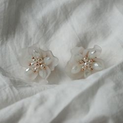 빅 꽃잎 귀걸이