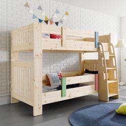 웨일즈 핀란드 소나무 원목 분리형 이층 침대 싱글