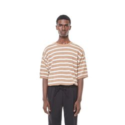 Sping stripe knit (Beige))