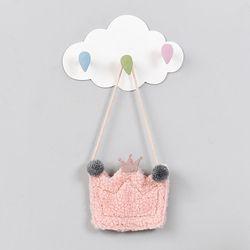구름 빗방울 벽걸이 다용도 후크걸이