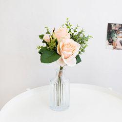 피치 로즈 꽃다발