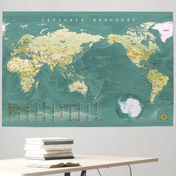 모티프맵 세계지도 와 earth n moon 그래픽포스터