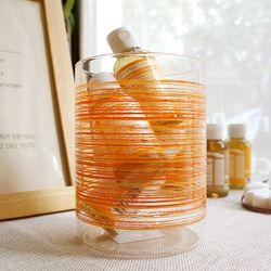 BORA 유리 컨테이너 오렌지(700ml) : 유리 보관용기