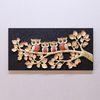 돈나무 가족부엉이 1P BG1004-골드 인테리어액자