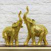 골드도금 코끼리 G022(中)2P SET 코끼리장식품