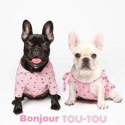 LOVE 셔츠드레스 pink